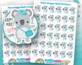 26 Cute Koko the Koala 'Happy Mail' Planner Stickers, Filofax, Erin Condren, Happy Planner, Kawaii, Cute Sticker, UK