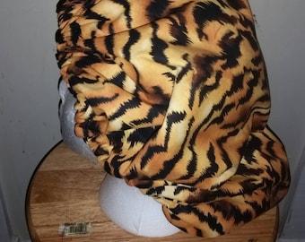 Tiger print bonnet