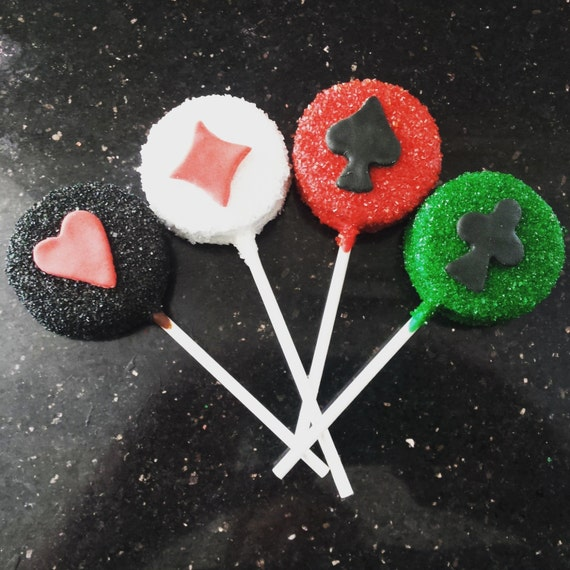 12 Casino Night / Poker Oreo Cookie Pop Party Treats Favors