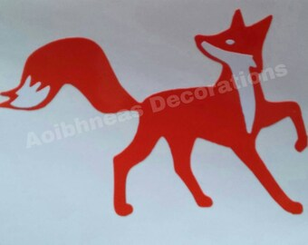 Foxy Permanent Vinyl Decal