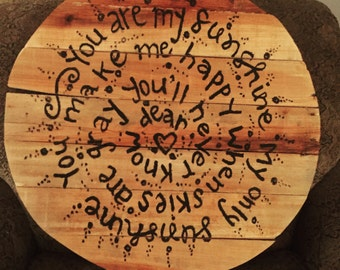 "Pallet Art - ""you are my sunshine"""