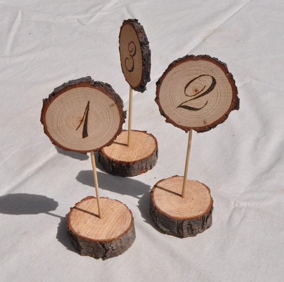 Wood Burned Table Numbers Premium Invitation Template Design