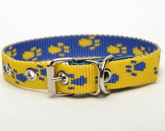 Fabric dog collar