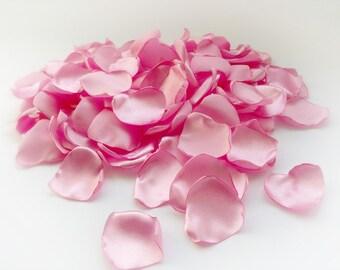 Petals of Satin, Rose Petals, Artificial Rose Retals Handmade Pink Retals.