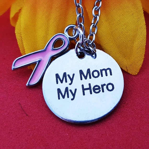 Breast Cancer Charm - Breast Cancer Jewelry - Breast Cancer Charm - Pink Ribbon Charm - Cancer Survivor Charms - Mother's Day Gift