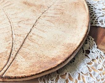 Fern Leaf Impressed Platter ~ Small Tray ~ Antipasto ~ Appetizer ~ Display