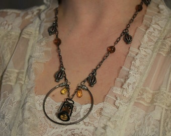 Antique Lantern Necklace