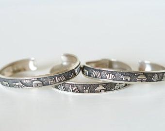 Sterling Silver Story Teller Bracelets