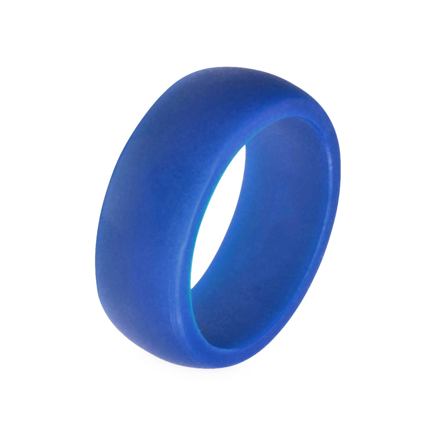 Men39s blue silicone wedding engagement ring by modernfashionco for Top silicone wedding rings