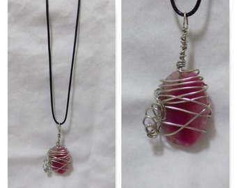 Hugged Magenta Wrap Necklace