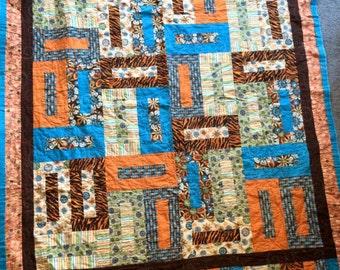 Handmade, Quilt, Accent, Lap quilt,