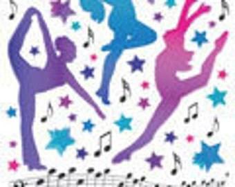 Sandylion Assorted Dance Glitter Sticker Jazz, Tap and Ballet