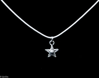 Silver necklace with star charm