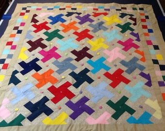 Windmill Throw Quilt