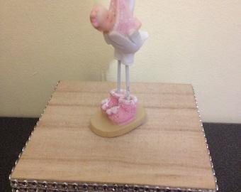 baby girl glitter trinket keepsake box