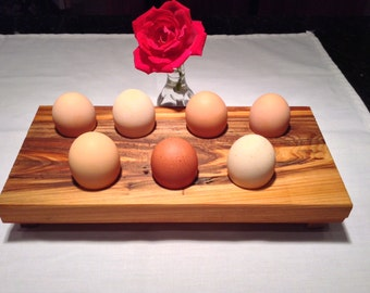 Cypress Wood 7 Egg Holder