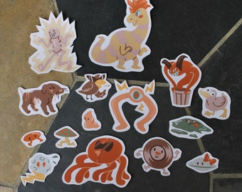 WEIRD OPPONENTS - Earthbound Stickers