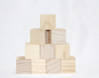 In the Raw wooden play blocks