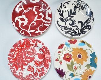 Plate set Flowers