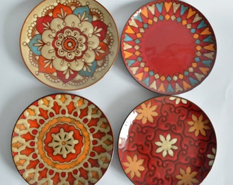 Plate set Warm Country