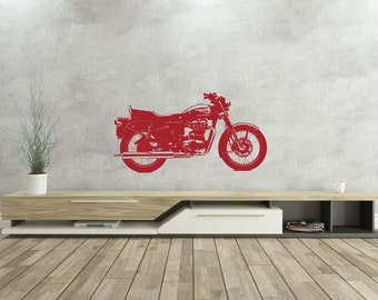 Royal Enfield -Cafe Racer - Vinyl Wall Decal