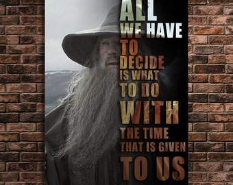 Gandalf Art Print Famous Quotes Art