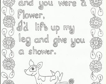 If I were a dog - colouring page