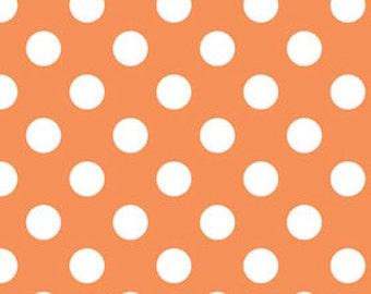 Orange Polka Dot Fabric - c 360 60 Medium Dots Orange - Quilting Cotton Dots - Orange Fabric - Orange Cotton Fabric 3/4'' Dots Quilt Cotton