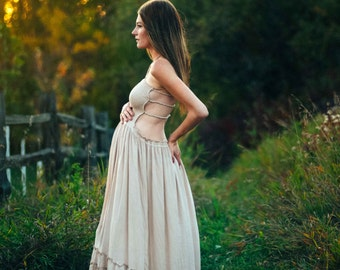 Boho Maternity Dress