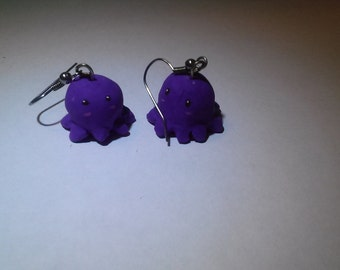 kawaii octopus earrings