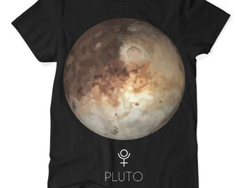 Pluto Planet TShirt Black