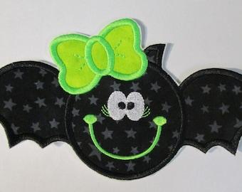 Neon green bats etsy - Applique neon design ...