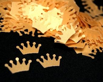 Princess crown confetti, Gold crown die cut, Party confetti, Gold crown cut outs, Royal party decorations