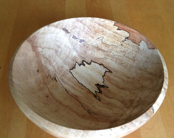 Spalted hard maple bowl