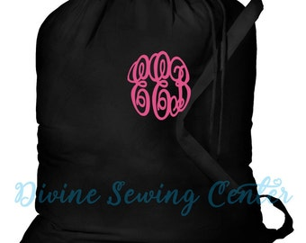 Monogrammed Laundry Bag- Personalized Clothes Laundry Bag- Monogrammed Dorm Laundry Bag- Personalized Gift- Camp Bag. Laundry-004