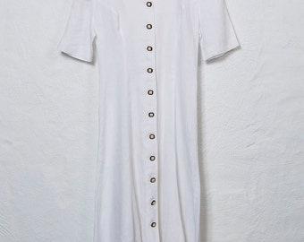 Linen Button Dress
