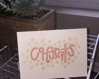 Congrats dots card