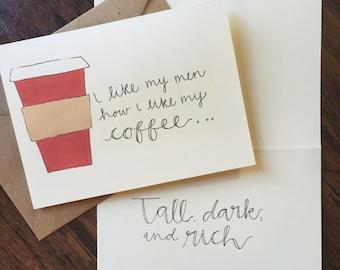 Coffee Valentine's Day card
