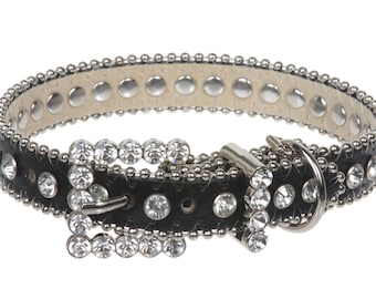 "3/4"" (20 mm) Metallic Rhinestone Dog Collar(10057)"