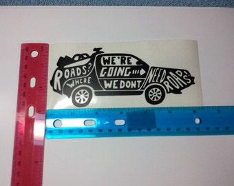 Back to the Future Time Machine Decal in Black Vinyl