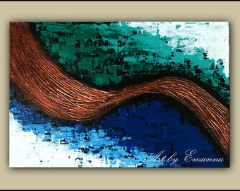 """SALE, Original Abstract Painting, Textured Painting, Modern Wall Art, 24""""x36"""" Ready to Hang"""