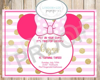 Minnie Mouse Birthday Party Invite