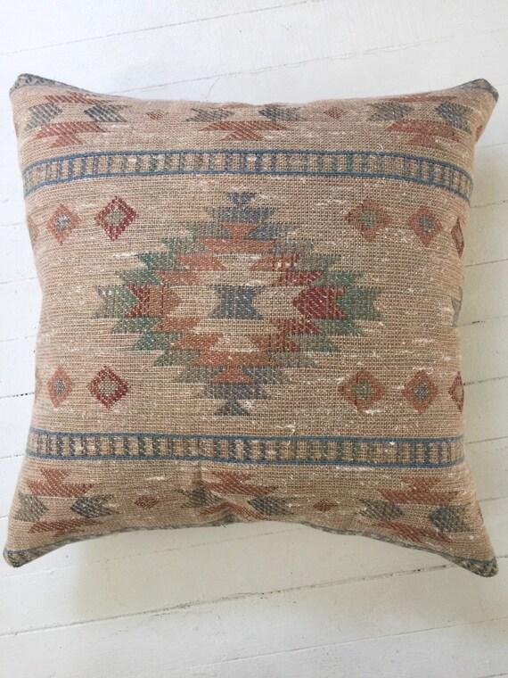 Vintage Southwestern Pillow : Vintage Large Southwestern Pillow Cover by BallandClawVintage