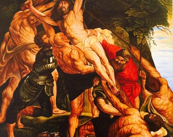 The Elevation Of The Cross (replica of Peter Paul Rubens 1611)