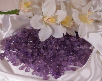 AMETHYST, 1 lb, Lilac Lavender tumbled stones High Quality, 10-15 mm, 1/2""