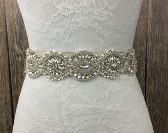 Bridal sash, ivory sash, all ivory sash, bridal sash, wedding sash, something blue, something new, wedding dress sash,