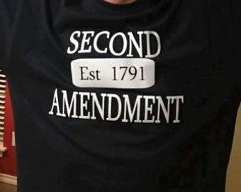 Black or Pink Custom T Shirts - 2nd Amendment