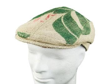 """Upcycling flat Cap Hat Flatcap hat """"Café Grappa""""-motif """"Reed"""""""