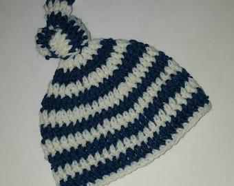 Crochet Baby Boy Hat 0-3 Months Newborn Hats