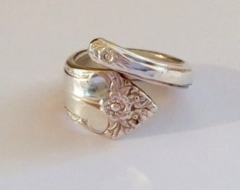 Antique Silver Spoon Ring - 1903